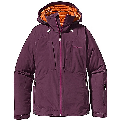 On Sale. Free Shipping. Patagonia Women's Primo Down Jacket DECENT FEATURES of the Patagonia Women's Primo Down Jacket Durable 2-layer, recycled nylon Gore-Tex fabric for waterproof/ breathable performance 700-fill-power goose down insulation is warm and highly compressible Helmet-compatible, 2-way-adjustable hood with laminated visor for optimal visibility in bad conditions Drop collar protects neck and face, even with the hood down Touch Point System embeds cord locks in the hood and hem for quick adjustment and seals out snow (US patent number 5263202 Slim Zip installation with watertight coated zippers reduce bulk and weight Pit zips quickly release heat Pleated gusset comfortably secures cuff over or under gloves, with less bulk Fully-featured powder skirt is adjustable Webbing loops connect to any Patagonia Snow pants to keep snow out and skirt down Zippered Pockets: Two handwarmers, two chest, one bicep, one interior drop-in, one interior zippered pocket with key clip Includes secure media pocket with cable routing The SPECS 2-layer, 4.3-oz 70-denier 100% recycled nylon Gore-Tex fabric with a DWR (durable water repellent) finish Lining: 1.4-oz 20-denier 100% recycled polyester mini-ripstop Powder Skirt: 2-oz 100% polyester plain weave Insulation: 700-fill-power premium European goose down Weight: 33.2 oz / 941 g Regular fit This product can only be shipped within the United States. Please don't hate us. - $420.99