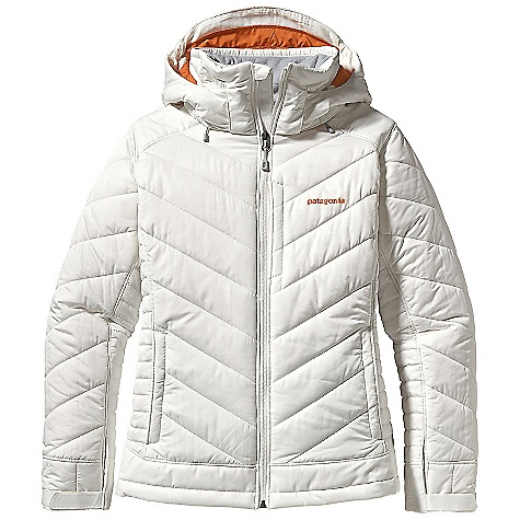 Ski On Sale. Free Shipping. Patagonia Women's Rubicon Rider Jacket DECENT FEATURES of the Patagonia Women's Rubicon Rider Jacket Durable, polyester ripstop fabric is breathable and water-resistant H2No Performance Standard 2-layer waterproof/breathable reinforced panels over shoulders, forearms and bottom hem prevent wet through and increase durability Lightweight, compressible 150-g Thermo green insulation stays warm even when wet Removable helmet-compatible hood has an easy-to-use, single-hand adjustment soft micro-fleece panels at back of neck and chin pit zips quickly release heat articulated arms increase mobility Removable, lightweight stretch-woven powder skirt with snap secures loop at center back and connects to any Patagonia Snow pants Zippered pockets: two hand warmers two chest, one includes secure media pocket with cable routing one internal drop-in for goggles and gloves one internal stash Adjustable low-profile cuff secures over or under gloves draw cord hem draw cord exits into hand warmers for adjustment RECCO avalanche rescue reflector embedded in back of neck The SPECS Regular fit Weight: 37.7 oz / 1069 g Shell: 2-layer, 4.2-oz 75-denier 100% polyester ripstop with a Deluge DWR finish Reinforcement: H2No Performance Standard Shell: 2-layer, 4.8-oz 75-to 170-denier 100% recycled polyester with a waterproof barrier and a Deluge DWR finish Lining: 2-oz 100% polyester plain weave Powder Skirt: 3.5-oz 91% eco polyester and 9% spandex Insulation: 150-g Thermo green 100% polyester (90% recycled) This product can only be shipped within the United States. Please don't hate us. - $163.99