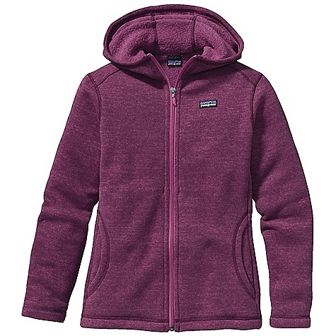 Free Shipping. Patagonia Girl's Better Sweater Hoody DECENT FEATURES of the Patagonia Girls' Better Sweater Hoody Polyester fabric has a sweater-knit face with a fleece interior and heathered overdyed yarns Contoured hood provides a comfortable fit Two hand warmer pockets Hand-me-down ID label The SPECS Regular fit Weight: 13.2 oz / 374 g 9.5-oz 100% polyester with a sweater-knit face and fleece interior This product can only be shipped within the United States. Please don't hate us. - $89.00
