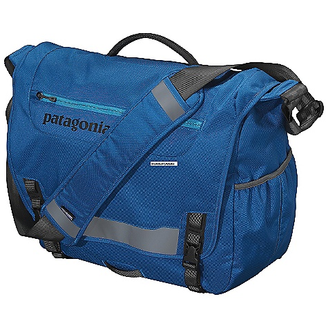 Entertainment Free Shipping. Patagonia Critical Mass Bag DECENT FEATURES of the Patagonia Critical Mass Bag Main Flap Opens to Largest Compartment Housing One Drop Pocket, One Mesh Pocket, One Padded Electronics Pocket, and Three Slots for Pens Exterior, Zippered Pocket on Flap has Moisture-Shedding Reverse Coil Zipper Interior Padded Computer Sleeve Raised Off The Ground Cradles Most 17in. Laptops and Secures with a Buckle and Strap Front Flap has Reflective Panel and a Webbing Bike-Light Mount Side-Mounted, Exterior, Water Bottle Pocket Fully Adjustable Shoulder Strap with Floating Pad, Three-Point Adjustable Stability Strap and Top-Side Carrying Handle The SPECS Weight: 1 lb 15.5 oz / 893 g Volume: 1831 cubic inches / 30 liter Fit: 17in. Body: 8.4 oz 600-Denier 100% Recycled Polyester Lining: 3.3 oz 200-Denier Polyester Both with a Polyurethane Coating This product can only be shipped within the United States. Please don't hate us. - $99.00