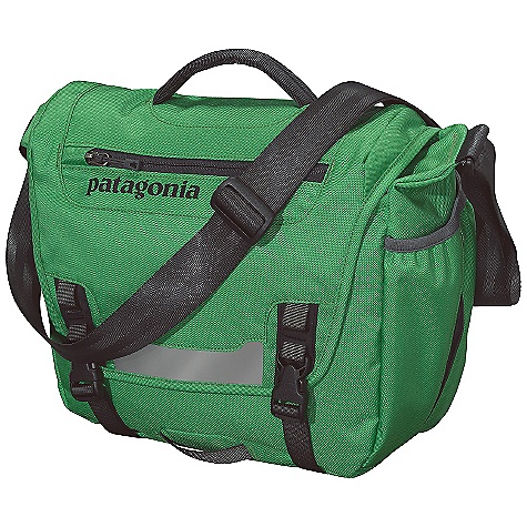 Entertainment Free Shipping. Patagonia Minimass Bag DECENT FEATURES of the Patagonia Minimass Bag Main Flap Opens to Largest Compartment, Which Houses One Drop Pocket, One Mesh Pocket, Three Slots for Pens and a Discrete and Secure Zippered Pocket Exterior Zippered Pocket On Flap has Moisture-Shedding Reverse Coil Zipper Front Flap has Reflective Piping and Webbing Bike-Light Mount Side-Mounted, Exterior, Water Bottle Pocket Fully Adjustable Shoulder Strap Top-Side Carrying Handle The SPECS Weight: 14.5 oz / 411 g Volume: 610 cubic inches / 10 liter Body: 8.4 oz 600-Denier 100% Recycled Polyester Lining: 3.3 oz 200-Denier Polyester Both with a Polyurethan e Coating This product can only be shipped within the United States. Please don't hate us. - $69.00