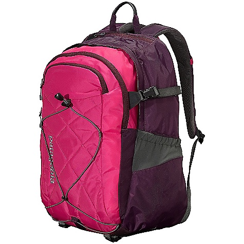 Entertainment On Sale. Free Shipping. Patagonia Women's Cascada 30L Pack DECENT FEATURES of the Patagonia Women's Cascada 30L Pack Torso length and airflow-mesh shoulder straps designed specifically for women Generous main compartment with drop pockets for quick organization on the go secondary compartment houses organizational pockets exterior stash pocket Interior padded sleeve is raised off the ground to protect most 17in. laptops from impact sleeve secures with a buckle closure and doubles as an insulated hydration reservoir complete with tube port Internal organization has plenty of options for electronics and daily supplies, including a lanyard to secure keys Micro fleece-lined pocket for sunglasses and electronics Stretch-woven pockets accommodate a wide range of water bottle shapes and sizes; exterior shock cord holds bulky items Quilting on front panel embroidered text logo The SPECS Weight: 27 oz / 765 g Volume: 1832 cubic inches / 30 liter Body: 420-denier 100% nylon oxford plain weave Base: 840-denier 100% ballistics nylon Lining: 200-denier 100% polyester Stretch-woven pockets: 92% nylon/8% spandex All treated with a Deluge DWR (durable water repellent) finish This product can only be shipped within the United States. Please don't hate us. - $61.99