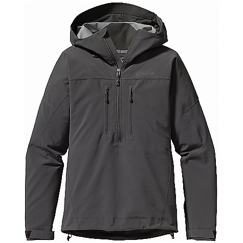 Climbing On Sale. Free Shipping. Patagonia Women's Knifeblade Pullover DECENT FEATURES of the Patagonia Women's Knifeblade Pullover Polartec Power Shield Pro fabric with a tricot backing, combines lightweight weather resistance and incredible breath ability Pullover silhouette trims weight and bulk for use with a climbing harness or pack waistbelt Helmet-compatible, 2-way-adjustable hood with laminated visor provides optimal visibility in bad conditions Touch Point System with embedded cord locks in hood and hem for quick-and-easy adjustment Modified Y-Joint sleeves provide overhead mobility and pullover won't lift above waist Harness- and pack-compatible torso pockets with reverse-coil DWR-treated zippers Low-profile cuff with pleated gusset The SPECS Slim fit Weight: 15.7 oz / 445 g 5.9-oz Polartec Power Shield Pro 94% polyester, 6% spandex bonded to a tricot back This product can only be shipped within the United States. Please don't hate us. - $208.99