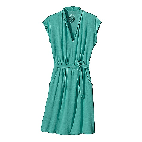 Entertainment Free Shipping. Patagonia Women's Versatiliti Dress DECENT FEATURES of the Patagonia Women's Versatiliti Dress Organic cotton and Tencel plaited fabric is naturally wrinkle-resistant Flattering V-neck front Waist inset with gathers belt ties at side seams provide adjustability Front drop-in pockets at hip Cap sleeves Hem falls above the knee length The SPECS Weight: 10.6 oz / 300 g Regular fit Above the knee 5.5-oz 62% organic cotton, 38% Tencel plaited jersey This product can only be shipped within the United States. Please don't hate us. - $69.00
