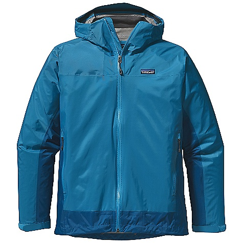 On Sale. Free Shipping. Patagonia Men's Rain Shadow Jacket DECENT FEATURES of the Patagonia Men's Rain Shadow Jacket Lightweight, 2.5-layer tear-resistant nylon shell with a waterproof/breathable H2No barrier and Deluge DWR (durable water repellent) finish Highly engineered interior surface texture channels moisture away from skin, protects the waterproof/breathable barrier from abrasion and slides easily over layers Roll-down, 2-way-adjustable hood with a laminated visor for visibility in poor conditions Pockets: Two unlined, waterproof handwarmers All exterior zippers and pit zips are coated with a Deluge DWR finish and are watertight Microfleece-lined neck and chin for comfort Updated custom zipper pulls The SPECS Regular fit Weight: 5.7 oz / 161 g 2.5-layer, 2.5-oz 100% nylon, with a waterproof, breathable H2No barrier and a Deluge DWR (durable water repellent) finish This product can only be shipped within the United States. Please don't hate us. - $112.99
