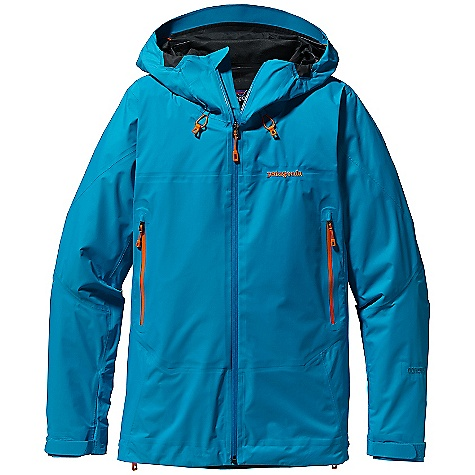Free Shipping. Patagonia Women's Super Cell Jacket DECENT FEATURES of the Patagonia Women's Super Cell Jacket 2-layer nylon Gore-Tex fabric with Paclite Fabric Technology repels moisture and packs down to nothing Helmet-compatible, 2-way adjustable Optimal Visibility Hood with laminated visor provides good visibility in poor conditions Touch Point System with embedded cord locks in hood and hem for quick-and-easy adjustment Micro fleece-lined neck and wind flap for next-to-skin comfort Full reach gusset panels under arms let you reach without raising the body of the jacket; watertight-coated pit zips offer ventilation Harness-and pack-compatible pockets feature supple, watertight, coated Slim Zips that reduce bulk and weight Low-profile gusset cuffs create a tight wrist seal The SPECS Regular fit Weight: 12.8 oz / 363 g 2.7-oz 40-denier 100% nylon Gore-Tex fabric with Paclite Fabric Technology and a DWR (durable water repellent) finish This product can only be shipped within the United States. Please don't hate us. - $249.00