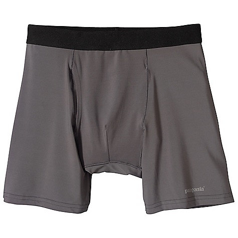 On Sale. Patagonia Men's Capilene 1 Stretch Boxer Briefs DECENT FEATURES of the Patagonia Men's Capilene 1 Stretch Boxer Briefs Our Stretchiest Synthetic Baselayer Fabric Provides Superior Flexibility, Comfort and Moisture-Management Brushed Elastic Waistband is Soft and Comfortable Durable Smooth Jersey Face is Comfortable Against Skin Self-Fabric, Fully Functioning Fly Low-Profile Merrow Seams Are Offset to Provide Chafe-Free Mobility Tagless for Itch-Free Comfort The SPECS Formfitting Weight: 2.8 oz / 79 g 5.1 oz 84% Polyester, 16% Spandex Jersey with Gladiodor Odor Control for The Garment This product can only be shipped within the United States. Please don't hate us. - $20.99