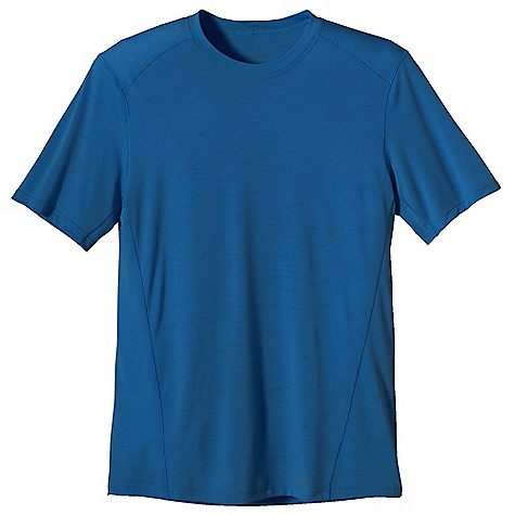 Free Shipping. Patagonia Men's Merino 1 SW T-Shirt DECENT FEATURES of the Patagonia Men's Merino 1 Sw T-Shirt Merino Wool/Polyester Blend Keeps You Dry and Comfortable Even When Wet, is Stronger and More Durable than 100% Wool, has a Softer Hand, Naturally Controls Odor, and Wicks Perspiration 18.9 Micron-Gauge Yarn and Jersey-Knit Construction Self-Fabric Collar Band for Comfort Set-In Sleeves Side Seams Offset to Eliminate Irritation Slow-Washed without Chlorine to Prevent Shrinkage Bluesign Approved Machine-Wash Cold, Tumble Dry at Low Temperature The SPECS Slim fit Weight: 4.2 oz / 119 g 3.5 oz / 120 G 65% Chlorine-Free Merino Wool, 35% Polyester (100% Recycled) This product can only be shipped within the United States. Please don't hate us. - $60.00