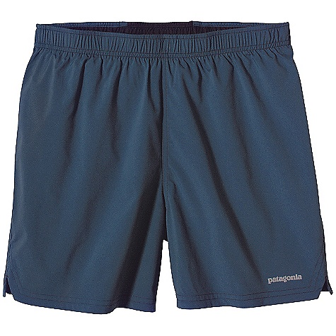 Free Shipping. Patagonia Men's 50K Short DECENT FEATURES of the Patagonia Men's 50K Short Lightweight polyester is tough yet soft against sun/wind chafed-skin Covered elastic waistband with a lay-flat draw cord for a secure fit Internal pockets are secured to the liner brief to stabilize contents and have a silicone gripper to keep contents in place External envelope pocket at center back holds additional essentials and features a key loop Reflective heat-transfer logo left hem The SPECS Regular fit Inseam: 5in. Weight: 4.9 oz / 138 g 2.89-oz 85-denier 100% polyester plain weave Liner: 3.8-oz 100% polyester crepe with moisture-wicking performance This product can only be shipped within the United States. Please don't hate us. - $55.00