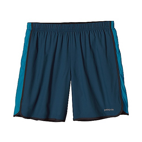 On Sale. Patagonia Men's Strider 7IN Short DECENT FEATURES of the Patagonia Men's Strider 7IN Short Ultra lightweight polyester dries fast and has a smooth hand for chafe-free comfort Covered elastic waistband with internal drawcord secures the fit Lightweight and breathable built-in liner wicks moisture and dries quickly Internal envelope pocket Reflective logo at left hem The SPECS Regular fit Weight: 4.1 oz / 116 g Body: 2.3-oz 50-denier 100% polyester (50% recycled) microdobby with moisture-wicking performance and a Deluge DWR (durable water repellent) finish Air Flow Mesh Insets: 3.1-oz 100% polyester (30% recycled) mesh Liner: 3.8-oz 100% microdenier polyester crepe with moisture-wicking performance This product can only be shipped within the United States. Please don't hate us. - $23.99