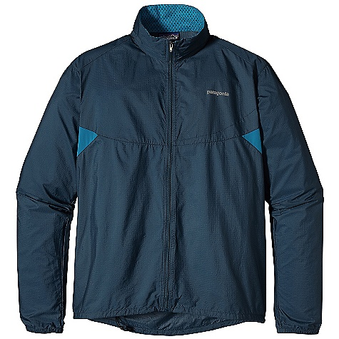 On Sale. Free Shipping. Patagonia Men's Nine Trails Jacket DECENT FEATURES of the Patagonia Men's Nine Trails Jacket Slightly Transparent Soft Shell with Tough, Triple-Ripstop Nylon On Torso, Shoulders and Arms, and Breathable Recycled Polyester Stretch-Woven Fabric On Back and Underarm Panels Shell Fabric is Treated with a Deluge DWR Finish for Weather-Resistant Protection Jacket Stuffs Into Internal Chest Pocket Center-Back Reflective Zippered Pocket Draw Cord at Hem Keeps Wind Out Reflective Heat-Transfer Logo On Front and Reflective Graphic at Center Back Can Be Be Worn Over Base Layers and Light Midlayers The SPECS Slim fit Weight: 5.2 oz / 147 g Body: 1.1 oz 15-Denier 100% Nylon with 50-Denier Triple-Ripstop Yarns Back and Underarm Panels: 3.5 oz 75-Denier Stretch Woven, 91% All-Recycled Polyester, 9% Spandex with a Deluge DWR Finish This product can only be shipped within the United States. Please don't hate us. - $59.99