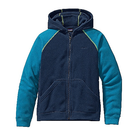 On Sale. Free Shipping. Patagonia Boys' Micro D Cardigan DECENT FEATURES of the Patagonia Boys' Micro D Cardigan Soft recycled micro denier fleece is durable and dries quickly 3-piece contoured hood Contrast raglan sleeves leave no option for chafing under backpack straps Hand warmer pockets Contrast flat-stitch seams The SPECS Relaxed fit Weight: 7.2 oz / 204 g 4.1-oz 100% micro denier polyester (87% recycled) fleece This product can only be shipped within the United States. Please don't hate us. - $34.99