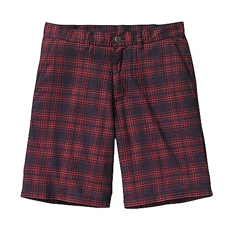 Free Shipping. Patagonia Men's Stacking Short DECENT FEATURES of the Patagonia Men's Stacking Short Soft, lightweight organic cotton polyester brushed twill in easy-wearing yarn dyes Shorts have belt loops, zip fly and metal button closure Two front slash pockets two rear welted drop-in pockets Right rear pocket has metal button and tab closure The SPECS Regular fit Inseam: 10in. Weight: 7.8 oz / 221 g 3.8-oz 70% organic cotton, 30% polyester brushed twill This product can only be shipped within the United States. Please don't hate us. - $69.00