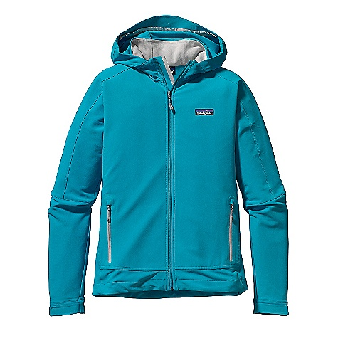 Free Shipping. Patagonia Women's Simple Guide Hoody DECENT FEATURES of the Patagonia Women's Simple Guide Hoody Lightweight, breathable, wind - and abrasion-resistant stretch-woven soft-shell fabric treated with a Deluge DWR finish wicks moisture and dries quickly Two-way adjustable, helmet-compatible hood has a laminated visor for good visibility in poor conditions Micro fleece-lined neck and wind flap for next-to-skin comfort Pockets: two zippered hand warmers with garages and a DWR finish Hook-and-loop cuff closures for a secure fit Draw cord hem The SPECS Regular fit Weight: 16.4 oz / 465 g 6.2-oz 91% all-recycled polyester, 9% spandex double weave, with a Deluge DWR (durable water repellent) finish This product can only be shipped within the United States. Please don't hate us. - $149.00