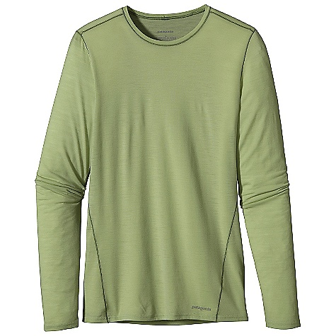 On Sale. Free Shipping. Patagonia Women's Merino 1 SW Crew DECENT FEATURES of the Patagonia Women's Merino 1 Sw Crew Merino Wool/Polyester Blend Keeps You Dry and Comfortable Even When Wet, Is Stronger and More Durable Than 100% Wool, Has a Softer Hand, Naturally Controls Odor, and Wicks Perspiration 18.9 Micron-Gauge Yarn and Jersey-Knit Construction Self-Fabric Collar Band For Comfort Set-In Sleeves Side Seams Offset To Eliminate Irritation Slow-Washed without Chlorine To Prevent Shrinkage Bluesign Approved Machine-Wash Cold, Tumble Dry At Low Temperature The SPECS Slim fit Weight: 4.7 oz / 133 g 3.5 oz / 120 G 65% Chlorine-Free Merino Wool, 35% Polyester (100% Recycled This product can only be shipped within the United States. Please don't hate us. - $31.99