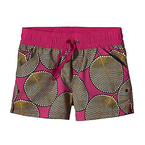 Patagonia Girls' Costa Rica Baggies Short DECENT FEATURES of the Patagonia Girls' Costa Rica Baggies Short Made of Durable, Lightweight Supplex Nylon That Dries Fast and has a DWR Finish Short has a Wide Elasticized Waistband with Drawstring Hand Pockets with Drain Holes Side Slit At Hem The SPECS Regular fit Weight: 3.1 oz / 88 g Inseam: 3in. 4-Ply, 4.2 oz Supplex 100% Nylon with a DWR (Durable Water Repellent) Finish This product can only be shipped within the United States. Please don't hate us. - $35.00