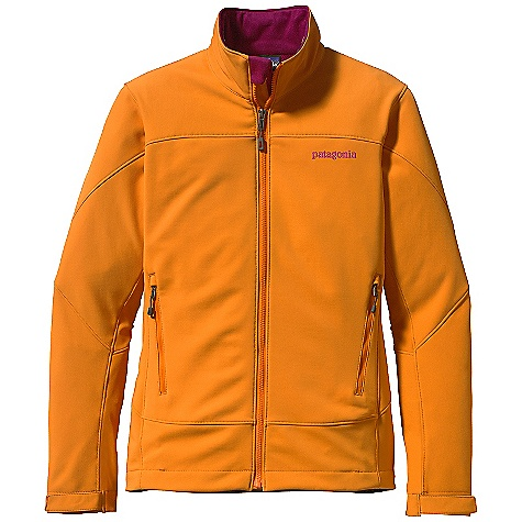 On Sale. Free Shipping. Patagonia Women's Adze Jacket DECENT FEATURES of the Patagonia Women's Adze Jacket Polartec Windbloc stretch-woven polyester soft-shell fabric with a DWR (durable water repellent) finish stops wind and resists precip A fleece grid backer warms and wicks moisture Micro fleece-lined neck and wind flap for next-to-skin comfort Two harness-and pack-compatible hand warmer pockets and one internal chest pocket, all with reverse-coil zippers Low-profile, hook-and-loop self-tab cuffs create a tight wrist seal Draw cord hem The SPECS Regular fit Weight: 21.1 oz / 598 g 9-oz Polartec Windbloc 93% polyester 7% spandex, with a DWR (durable water repellent) finish This product can only be shipped within the United States. Please don't hate us. - $89.99
