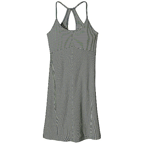Entertainment Free Shipping. Patagonia Women's Spright Dress DECENT FEATURES of the Patagonia Women's Spright Dress Soft organic cotton Tencel lyocell blend with smooth drape Scoop neck strappy dress Racer back styling with keyhole detail Full shelf bra for support Above-the-knee length The SPECS Slim fit 4.8-oz 55% organic cotton 45% Tencel lyocell This product can only be shipped within the United States. Please don't hate us. - $65.00