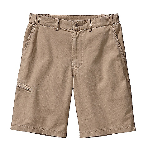 Free Shipping. Patagonia Men's Slackwater Short DECENT FEATURES of the Patagonia Men's Slackwater Short Supple and durable washed organic cotton canvas Flat-front shorts with zip fly, button closure and belt loops Elasticized waistband for comfort Drop-in front slant pockets single-welted, right rear zippered pocket Double-welted right thigh drop-in zippered pocket The SPECS Regular fit Weight: 14.8 oz / 419 g Inseam: 10in. 8-oz 100% organic cotton canvas This product can only be shipped within the United States. Please don't hate us. - $69.00