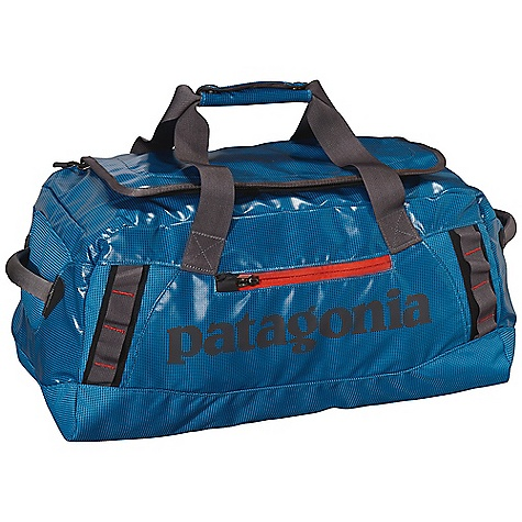 Entertainment Free Shipping. Patagonia Black Hole 45L Duffel DECENT FEATURES of the Patagonia Black Hole 45L Duffel Waterproof fabric with bound seams help protect your gear in wet conditions Carry with handle or haul handles; four corner-mounted webbing daisy chains facilitate hauling and tying down big loads U-shaped lid provides easy access to the main compartment zippered exterior pocket two zippered internal mesh pockets Bottom padded with foam to protect contents The SPECS Weight: 28 oz / 794 g Volume: 2746 cubic inches / 45 liter 14.7-oz 1,200-denier polyester (50% solution-dyed) with a TPU film laminate and a DWR (durable water repellent) finish This product can only be shipped within the United States. Please don't hate us. - $99.00