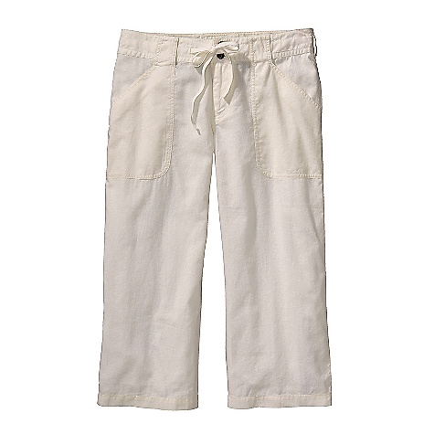 Free Shipping. Patagonia Women's Island Hemp Capri DECENT FEATURES of the Patagonia Women's Island Hemp Capri Hemp is soft with a linen-like drape Zip fly with double-button closure Waistband with drawstring and belt loops Drop-in front patch pockets back patch pockets with button closure The SPECS Regular fit, Low rise, Trouser Cut Inseam: 22in. 4-oz 55% hemp, 45% organic cotton plain weave This product can only be shipped within the United States. Please don't hate us. - $69.00