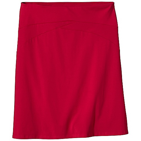 Free Shipping. Patagonia Women's Vitaliti Skirt DECENT FEATURES of the Patagonia Women's Vitaliti Skirt Plaited organic cotton/all-recycled polyester stretch fabric is naturally wrinkle-resistant Wide, flat, asymmetrical waistband with seaming detail Pull-on styling with A-line silhouette Updated fabric The SPECS Regular fit Length: 22in. Weight: 6 oz / 170 g 5.7-oz 55% organic cotton, 35% all-recycled polyester, 10% spandex This product can only be shipped within the United States. Please don't hate us. - $59.00