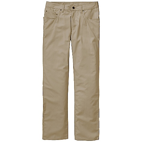 On Sale. Free Shipping. Patagonia Men's Guild Pant DECENT FEATURES of the Patagonia Men's Guild Pant Lightweight and durable organic cotton with contrast stitch thread Classic 5-pocket styling rear yoke belt loops antique nickel shank button closure and zip fly The SPECS Slim fit Weight: 11.8 oz / 335 g Inseam: 32in. 5.2-oz 100% organic cotton canvas This product can only be shipped within the United States. Please don't hate us. - $36.99