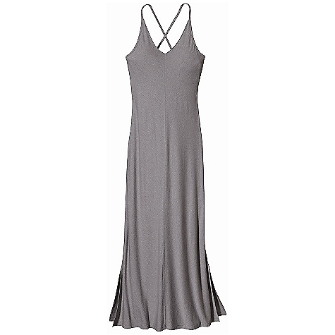 Entertainment Free Shipping. Patagonia Women's Kamala Cross-Back Dress DECENT FEATURES of the Patagonia Women's Kamala Cross-Back Dress Organic cotton, Tencel knit blend feels soft and has a smooth drape V-neck halter dress with full shelf bra for support Adjustable straps crossover and tie at back Ankle length hem, with slits for mobility The SPECS Regular fit Weight: 9.7 oz / 274 g Length: Ankle 4.8-oz 55% organic cotton, 45% Tencel jersey This product can only be shipped within the United States. Please don't hate us. - $79.00