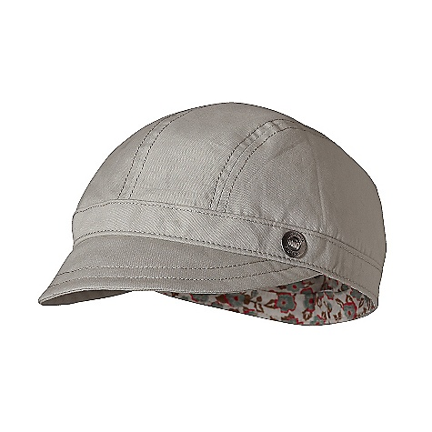 Patagonia Winsome Cap DECENT FEATURES of the Patagonia Winsome Cap Lightweight organic cotton canvas gives comfortable sun protection Short brim provides shade Alpha sized for best fit The SPECS Regular fit Weight: 1.8 oz / 51 g 5.2-oz organic cotton canvas Lining: 2.2-oz organic cotton lawn 8.6-oz 85% organic cotton, 15% spandex knit This product can only be shipped within the United States. Please don't hate us. - $35.00
