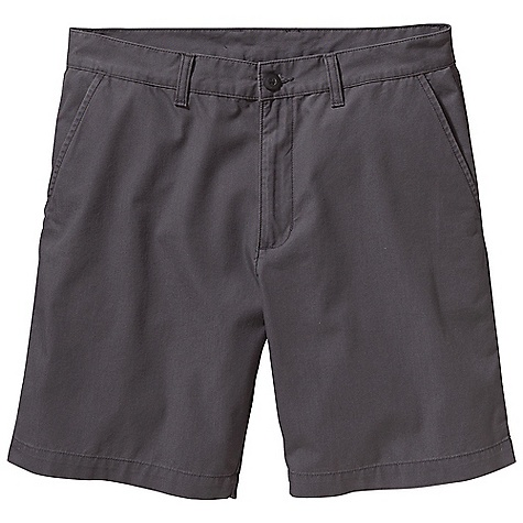 Free Shipping. Patagonia Men's All-Wear 8IN Short DECENT FEATURES of the Patagonia Men's All-Wear 8IN Short Made of a lightweight and durable washed organic cotton fabric Shorts with flat-front chino styling zip fly with button closure and belt loops Pockets: Two front drop-ins slant, side entry two welted drop-ins Slant side-entry, drop-in front pockets Two welted drop-in rear pockets Now with an updated fit The SPECS Regular fit Inseam: 8in. Weight: 9.3 oz / 263 g 5.2-oz 100% organic cotton canvas This product can only be shipped within the United States. Please don't hate us. - $55.00