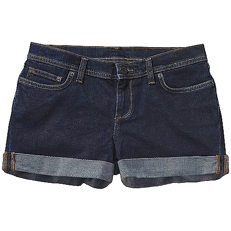 Free Shipping. Patagonia Women's Denim Shortie DECENT FEATURES of the Patagonia Women's Denim Shortie Organic cotton denim with stretch for fit and comfort Classic 5-pocket-jean styling Zip fly with button-shank closure Two back drop-in pockets with button-flap closure The SPECS Slim fit Inseam: 1 1/2in. Medium Wash: 11.5-oz 98% organic cotton 2% spandex denim Light Grey Wash: 9.5-oz 99% organic cotton 1% spandex denim This product can only be shipped within the United States. Please don't hate us. - $65.00