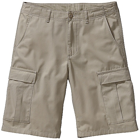Free Shipping. Patagonia Men's All-Wear Cargo Short DECENT FEATURES of the Patagonia Men's All-Wear Cargo Short Lightweight and durable washed organic cotton Shorts with flat front styling belt loops zip fly with button closure Pockets: Two-front wide-entry two-rear with flaps two billowed cargo with flaps and button closures The SPECS Relaxed fit Weight: 15.8 oz / 448 g Inseam: 11in. 5.2-oz 100% organic cotton canvas This product can only be shipped within the United States. Please don't hate us. - $69.00