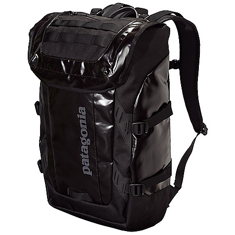 Fitness Free Shipping. Patagonia Black Hole Pack DECENT FEATURES of the Patagonia Black Hole Pack Waterproof fabric with bound seams help protects your gear in wet conditions Cavernous main compartment contains two mesh pockets, key clip, organizer panel simple pocket holds most 17in. laptops or a hydration bladder Zippered pocket with moisture-shedding reversed coil zipper and daisy chain lash points on lid bike light attachment loop front panel has concealed pocket and additional laser-cut Hypalon lash points Padded shoulder straps with load lifters sternum strap and a simple webbing belt ensure a comfortable and secure carry compression molded back panel sheds moisture and allows airflow side compression straps help manage different size loads The SPECS Weight: 35 oz / 992 g Volume: 2135 cubic inches / 35 liter 14.7-oz 1,200-denier polyester (50% solution-dyed) with a TPU-film laminate and a DWR (durable water repellent) finish This product can only be shipped within the United States. Please don't hate us. - $149.00