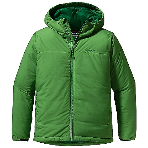 On Sale. Free Shipping. Patagonia Men's Micro Puff Hoody DECENT FEATURES of the Patagonia Men's Micro Puff Hoody Windproof shell made of a lightweight recycled polyester with a Deluge DWR finish Insulated with warm and compressible 100-g Prim aloft Sport Single-pull hood adjustment controls volume and improves visibility Articulated elbows improve mobility and stretch cuff inserts enhance protection Full-length front zipper has a low bulk wind flap Two zippered hand warmer pockets and one internal zippered storage pocket Draw cord hem stuff sack included The SPECS Regular fit Weight: 18 oz / 510 g Shell: 1.7-oz 30-denier ripstop 100% recycled polyester with a Deluge DWR (durable water repellent) finish Insulation: 100-g Prim aloft Sport 100% polyester Lining and Stuff Sack: 1.4-oz mini-ripstop 100% polyester This product can only be shipped within the United States. Please don't hate us. - $121.99