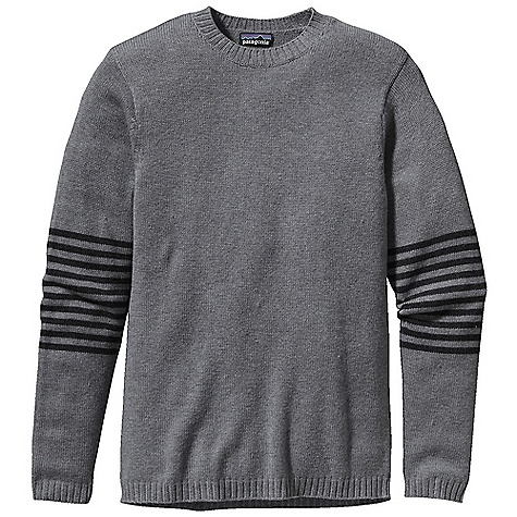 On Sale. Free Shipping. Patagonia Men's Lambswool Crew DECENT FEATURES of the Patagonia Men's Lambswool Crew Soft and durable lambs wool/nylon blend maintains shape 5-gauge Crew neck sweater with rib-knit cuffs, neckline and hem Heathered colors The SPECS Regular fit Weight: 18 oz / 510 g 5-gauge 80% lambs wool 20% nylon This product can only be shipped within the United States. Please don't hate us. - $63.99