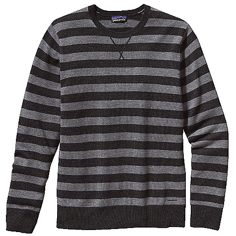 On Sale. Free Shipping. Patagonia Men's Wool Cask Crew DECENT FEATURES of the Patagonia Men's Wool Cask Crew Soft wool with a 5% cashmere blend Jersey knit crewneck sweater with rib-knit on neckline, cuffs and hem V-shaped rib-knit detailing on center-front neckline Heathered colors The SPECS Regular fit Weight: 14.8 oz / 420 g 9-gauge 95% wool 5% cashmere This product can only be shipped within the United States. Please don't hate us. - $88.99