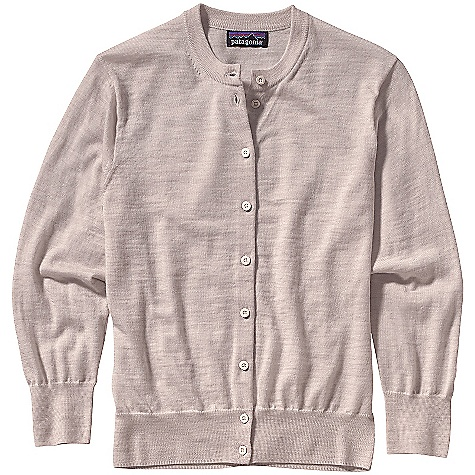 On Sale. Free Shipping. Patagonia Women's Merino Cardigan DECENT FEATURES of the Patagonia Women's Merino Cardigan Jersey knit in fine Classic cardigan with a crewneck Front placket has delicate buttons Fitted 3/4-length sleeves Fine rib at cuffs and hem Hip length The SPECS Slim fit Weight: 6 oz / 170 g 16-gauge 100% merino wool This product can only be shipped within the United States. Please don't hate us. - $58.99