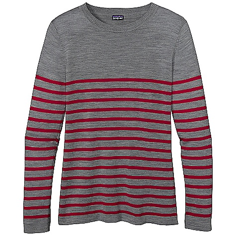 Free Shipping. Patagonia Women's Merino Crew Sweater DECENT FEATURES of the Patagonia Women's Merino Crew Sweater Fine 16-Gauge 100% Merino Wool In a Jersey Knit Classic Crewneck with Drop-Shoulder Seams and Long Sleeves Fine Rib at Neck, Cuffs and Hem Stripe Detailing On All Colors Hip Length The SPECS Weight: 6.5 oz / 184 g 16-Gauge 100% Merino Wool This product can only be shipped within the United States. Please don't hate us. - $99.00