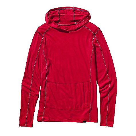 Free Shipping. Patagonia Men's LW Merino Hoody DECENT FEATURES of the Patagonia Men's Lightweight Merino Hoody Soft, lightweight 100% merino wool knit Long-sleeved pullover hoody with top-stitching and three-pieced close-fitting hood Classic pouch-style hand warmer pocket The SPECS Slim fit Weight: 8.6 oz / 244 g 5.2-oz 100% merino wool This product can only be shipped within the United States. Please don't hate us. - $119.00