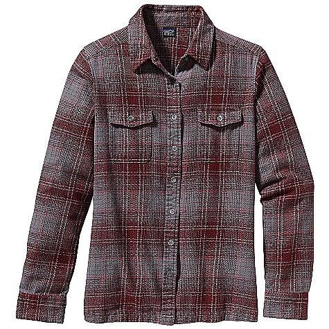 On Sale. Free Shipping. Patagonia Women's Long Sleeve Fjord Flannel Shirt DECENT FEATURES of the Patagonia Women's Fjord Flannel Long Sleeve Shirt Soft organic cotton flannel Classic flannel shirt styling with button front placket Chest patch pockets with button flap closures Buttoned cuffs Straight hem with side slits Hip length The SPECS Regular fit 6.5-oz 100% organic cotton flannel This product can only be shipped within the United States. Please don't hate us. - $54.99