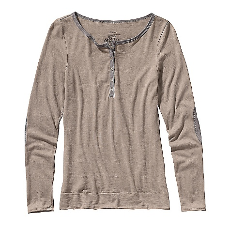 Free Shipping. Patagonia Women's LW Merino Henley Top DECENT FEATURES of the Patagonia Women's Lightweight Merino Henley Top Soft, lightweight jersey-knit merino Wide crewneck top with long sleeves Subtle contrast stitching Hip length Slim fit The SPECS Weight: 6.3 oz / 179 g Fabric: 5.2-oz 100% merino wool This product can only be shipped within the United States. Please don't hate us. - $99.00
