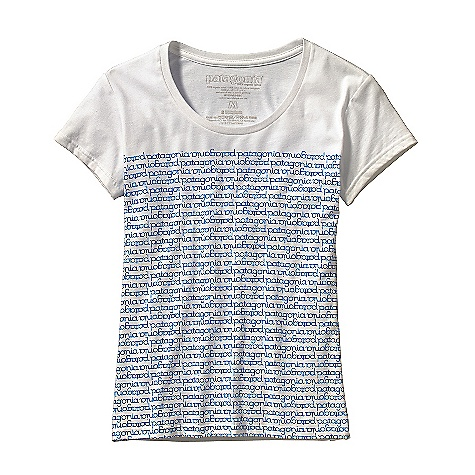 Patagonia Women's Round About Logo T-Shirt DECENT FEATURES of the Patagonia Women's Round About Logo T-Shirt Screen-print inks are PVC- and phthalate-free Taped shoulder seams for comfort Artist: Jason Stowell Anika fit The SPECS Weight: 4.4 oz / 125 g Fabric: 4.4-oz 100% organic cotton This product can only be shipped within the United States. Please don't hate us. - $30.00
