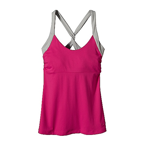 Fitness Patagonia Women's Morning Glory Tank DECENT FEATURES of the Patagonia Women's Morning Glory Tank Stretchy, Soft, Synthetic Jersey Knit Scoop Neck Tank with Shelf Bra for Support Wide Cross-Back Straps with a Twist Under Bust Seam and Side Gathers Add Contour/Shape Hip Length The SPECS Slim fit Weight: 5.2 oz / 147 g 6 oz 92% Nylon, 8% Spandex Brush-Faced Jersey Knit with Moisture-Wicking Performance This product can only be shipped within the United States. Please don't hate us. - $49.00