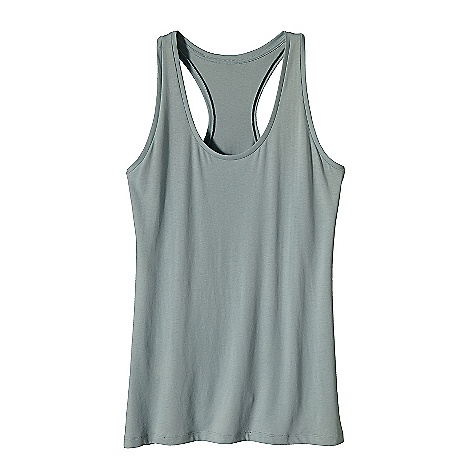 Surf Patagonia Women's Rania Tank DECENT FEATURES of the Patagonia Women's Rania Tank Soft and stretchy organic cotton Simple tank with clean lines Racer back styling Hip length The SPECS Regular fit Weight: 4.1 oz / 116 g 4.8-oz 55% organic cotton, 45% Tencel jersey This product can only be shipped within the United States. Please don't hate us. - $39.00