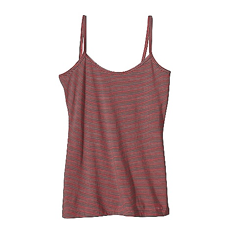 On Sale. Patagonia Women's Spright Cami DECENT FEATURES of the Patagonia Women's Spright Cami Soft and stretchy organic cotton and Tencel lyocell blend Simple, classic cami with clean lines great for layering or by itself Fine binding detail at neck and straps Lower-hip length The SPECS Slim fit 4.8-oz 55% organic cotton 45% Tencel lyocell jersey This product can only be shipped within the United States. Please don't hate us. - $16.99
