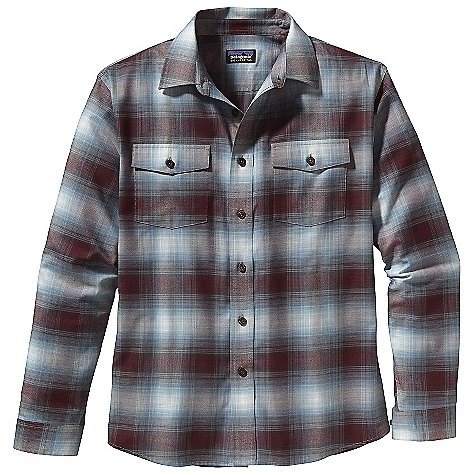 The Patagonia Men's Buckshot Flannel Shirt is a button down flannel shirt for midweight warmth wherever you take it. The organic cotton/polyester blend provides a soft touch that dries quickly and resists wrinkles. This makes it super easy to pack along on trips, whether you need to wash it unexpectedly or just have it ready to go when you pull it out of your suitcase. A classic shirt with two chest pockets that close with a flap and a button. Roll out of bed and throw it on, whether you're off for a hike or off to work. Features of the Patagonia Men's Buckshot Flannel Shirt Made of a midweight organic cotton/polyester flannel blend Traditional button front shirt Two single button pockets with flaps Shirttail hem - $50.99