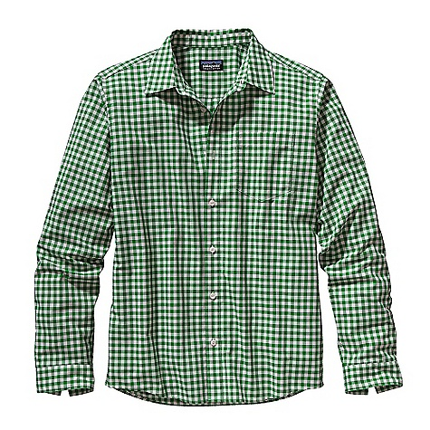 On Sale. Free Shipping. Patagonia Men's Long Sleeve Fezzman Shirt DECENT FEATURES of the Patagonia Men's Fezzman Long Sleeve Shirt Lightweight, breathable organic cotton/polyester plain weave Button front shirt with left chest patch pocket Shirttail hem The SPECS Regular fit Weight: 8.5 oz / 241 g 3.7-oz 70% organic cotton 30% polyester plain weave This product can only be shipped within the United States. Please don't hate us. - $38.99