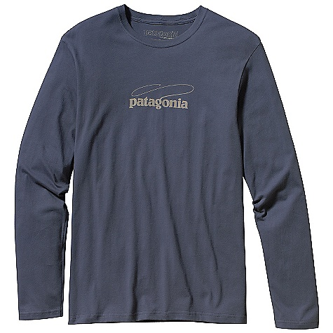 Patagonia Men's Long Sleeve Fish Logo T-Shirt DECENT FEATURES of the Patagonia Men's Long-Sleeved Fish Logo T-Shirt Screen-print inks are PVC - and phthalate-free Taped shoulder seams for comfort The SPECS Regular fit Weight: 5.4 oz / 153 g 5.4-oz 100% organic cotton This product can only be shipped within the United States. Please don't hate us. - $40.00