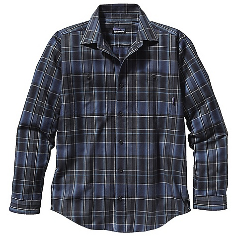 Free Shipping. Patagonia Men's Long Sleeve Pima Cotton Shirt DECENT FEATURES of the Patagonia Men's Pima Long Sleeve Cotton Shirt Soft, long-staple 100% organic pima cotton Traditional button front shirt Two single button patch pockets Shirttail hem The SPECS Relaxed fit Weight: 9.6 oz / 272 g 4-oz 100% organic pima cotton yarn-dyed plaid This product can only be shipped within the United States. Please don't hate us. - $79.00