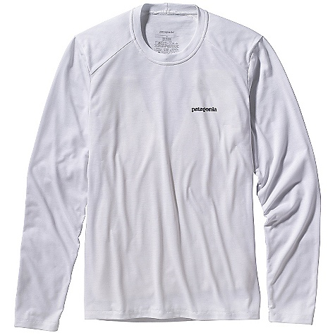 Patagonia Men's Long Sleeve Polarized Tee DECENT FEATURES of the Patagonia Men's Long Sleeve Polarized Tee Super comfortable polyester jersey fabric with 20-UPF sun protection Long-sleeved tee with offset shoulder seams for pack-wearing comfort Straight hem The SPECS Slim fit Weight: 7.5 oz / 212 g 4.8-oz 100% polyester jersey with 20-UPF sun protection This product can only be shipped within the United States. Please don't hate us. - $45.00